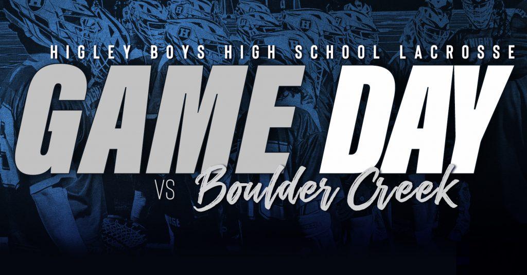Game Day vs Boalder Creek
